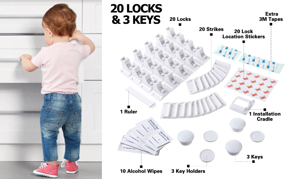 locks with keys, child, children safety, safe kids, kids safety locks, children proof, magnetic lock