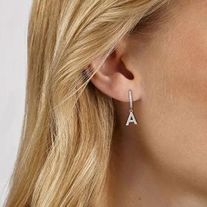 initial earring women