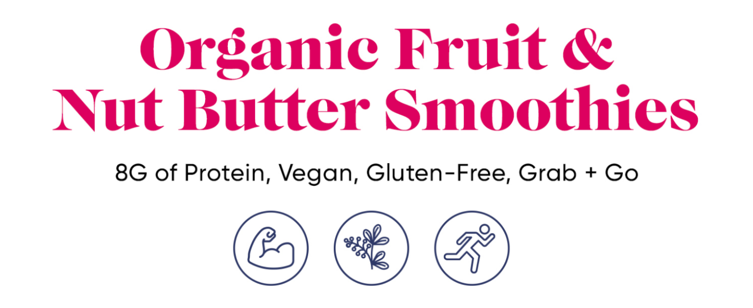 Organic Fruit & Nut Butter Smoothies