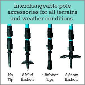 Interchangeable pole accessories