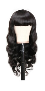 9a human hair wigs with bangs