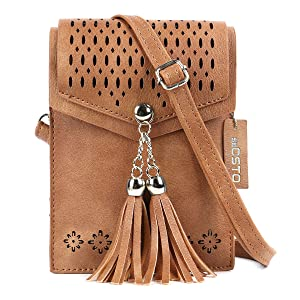 Small Crossbody Bag Leather Card Slots Wallet Shoulder Purses Fashion Travel Wallet Cute Avocado And Stone Phone Purse