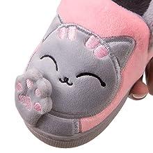 Niñas Niños Zapatillas Invierno Otoño Slippers Casa Interior Caliente Pantuflas
