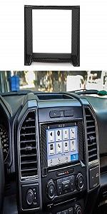 GPS Navigation Panel Decoration Frame Trim Cover for Ford F150 2015-2017