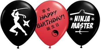 ninja party supplies kickin' balloons