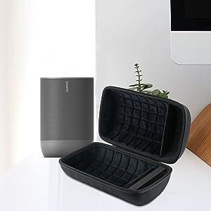 Protectrice Cas LTGEM Dur /Étui de Voyage Porter Housse pour Sonos Move Enceinte sans-Fil/