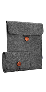 Felt Sleeve Case with Accessory Pouch