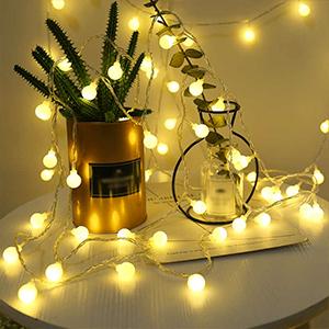可愛くて小さなボール LEDイルミネーションライト 5m 40球根 電飾led ストリングライト