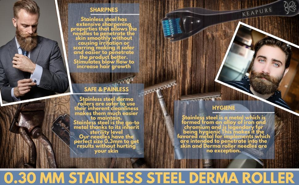 Stainless Steel Derma Roller Benefits
