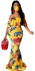 Women's Off Shoulder Maxi Dresses