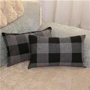 linen plaid pillow covers