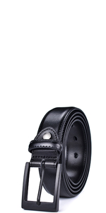mens 1.25 inch wide prong buckle belts