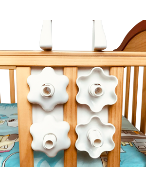 Amazon Com Hleeduo Diy 37 Inch Baby Crib Mobile Bed Bell Holder Music Box Holder Arm Bracket Baby Bed Stent Set Nut Screw Baby