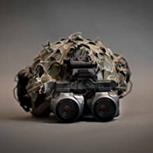 Helmet mounted aurora night vision monoculars used as night vision binoculars / night vision goggles