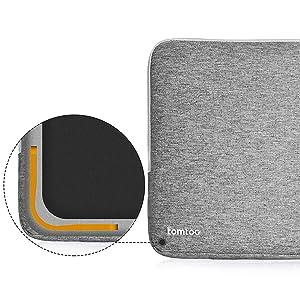 14 HP EliteBook Noir Bleu Protection /à 360/° tomtoc Housse Ordianteur Portable pour 15 Dell XPS Sacoche Pochette PC 14 HP Stream Laptop