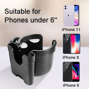 Stroller Cup Holder with Phone Holder/Organizer
