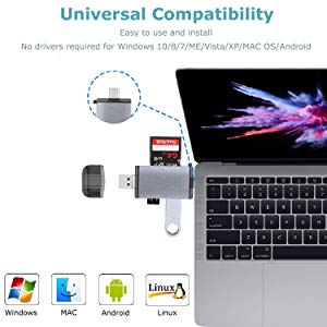 Card reader With usb port Android Mobile card reader laptop card reader Type c card reader