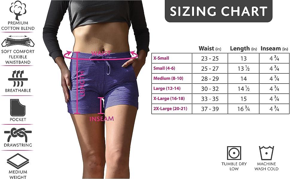 Sexy Basics Sizing Chart