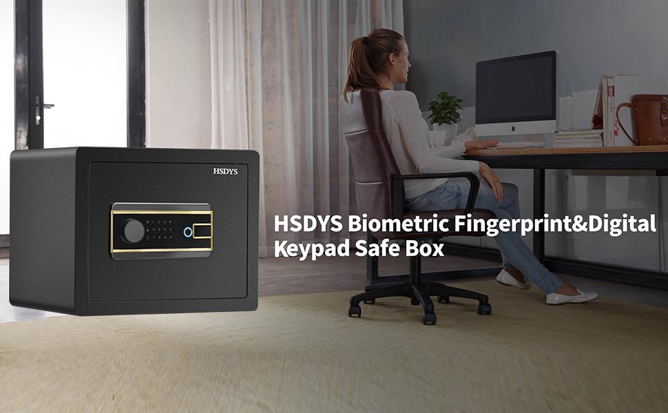 HSDYS Biometric Fingerprintamp;Digital Keypad safe box