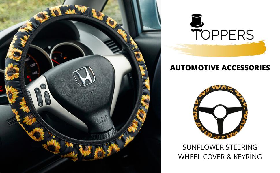 Sunflower Steering Wheel Cover for Women Car Accessories for Women Cute Steering Wheel Cover