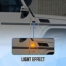 2Pcs Amber Led Side Marker Light Assembly