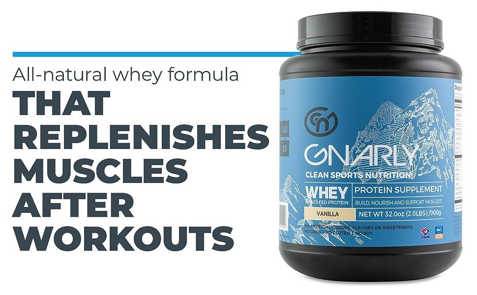 All-natural whey formula