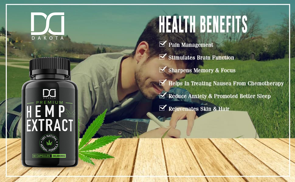 Pure hemp supplement works to improve eyes, skin, intestines, bones and joints