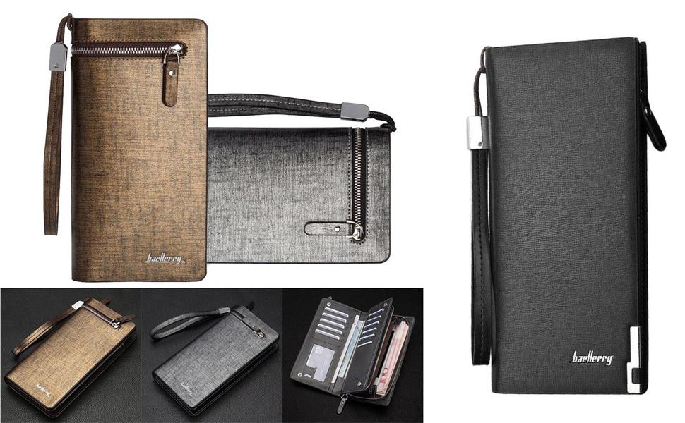 Clutch Wallet Zip Phone Purse Card Holder Organizer Leather Shoulder Handbag Women Purse Messenger