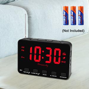 backup battery operated alarm clock