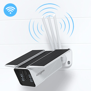 signal  【2020 Upgrated】 Wireless Outdoor Security Camera, WiFi 1080P Solar Security Camera 10400mAh Rechargeable Battery, PIR Motion Detection, Night Vision, 2-Way Audio, 3 Antenna, IP67 Waterproof, Cloud SD db2b4fc8 8904 410f 97f7 e2f14425bcae