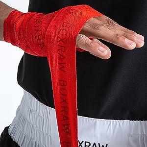 4.5m Boxen MMA Erwachsene Elastische Bandagen BOXRAW Professionelle Handwickel 3m KOSTENLOSE Tragetasche /& Gummierte Tr/äger