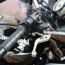 Paire de leviers courts en aluminium anodis/é pour Kawasaki Z750R 2011-2014 Noir//Noir Z1000 2007-2018 Z1000 SX /& Tourer 2011-2016