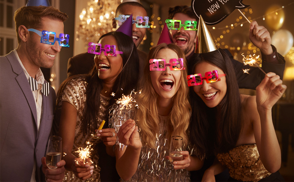 10 LED Partybrillen Bageek LED Brillen f/ür Party Leuchtend Set Lustige Partybrille 2021 Brillen LED Party Requisite f/ür Rollenspiele am Silvesterabend Weihnachten Halloween