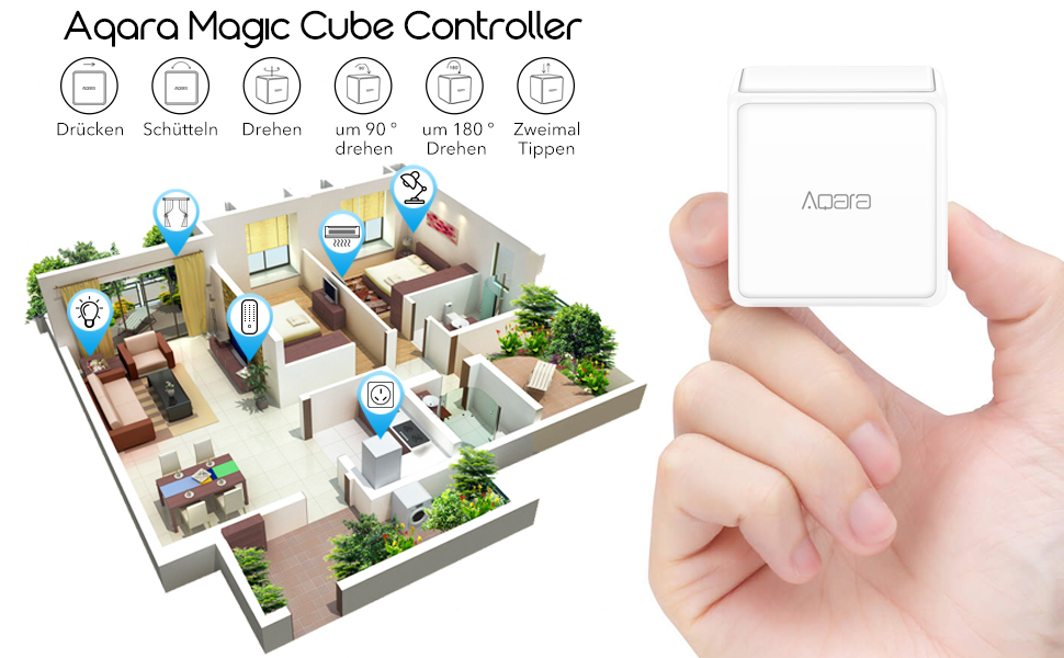 Hangrui Für Magic Cubes Intelligente Controller Smart Home Geräte Controller Zigbee Version Wird Durch 6 Aktionen Gesteuert Cube Steuerzentrale Baumarkt
