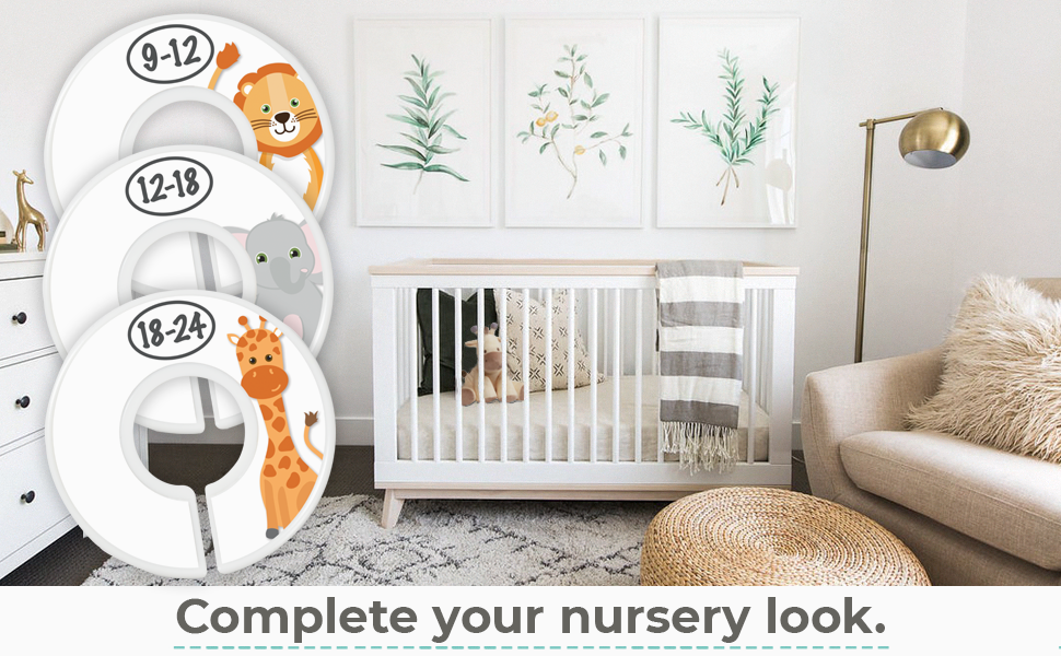 nursery décor baby shower gift baby boys baby girls wardrobe dividers baby closet organizers jungle
