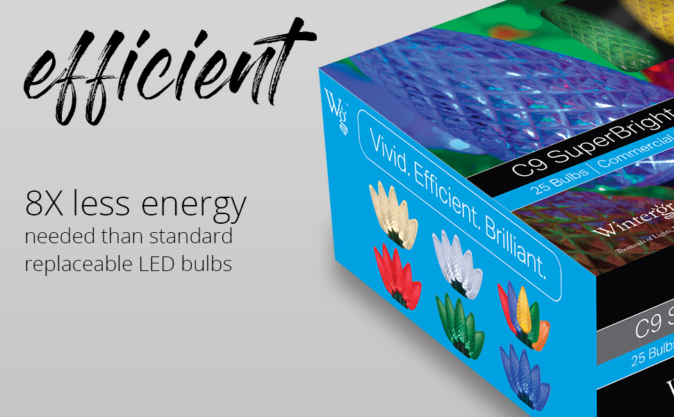 C7 and C9 LED Christmas Lights - Energy Efficient Christmas Lights