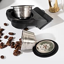 Nespresso Dolge Gusto Refillable pods with coffee beans