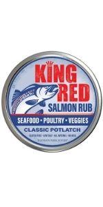 madison park foods, king red salmon, seafood seasoning, seafood spice, potlatch seasoning