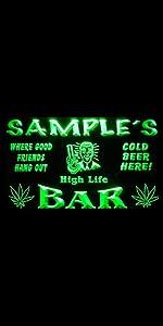 ADVPRO LED Neon sign light-ing Dual-color GROW Marijuana CBD Open Hemp Oil High Life Weed Green Hemp