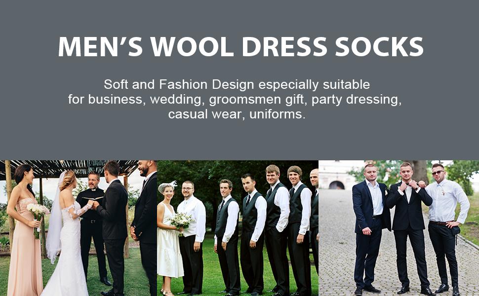 Merino Wool Dress Socks,Calbom Winter Thermal Lightweight Business Casual Crew Socks 3//5//6 PACK