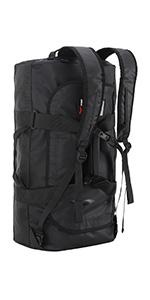 MIER Heavy Duty Nylon Cargo Duffel Bag Extra Large Travel Duffle,Foldable,Black 220L