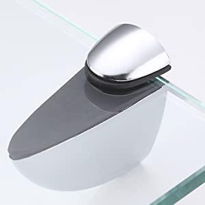 Umi por  Estanteria Ba/ño Templado Estante de vidrio para ba/ño Cristal Organizador de ducha 8mm Montado en la Pared 35CM pulido BGS3200S35