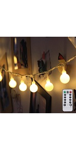 LE String Lights 33ft with 100 LEDs, Waterproof Copper Wire ...