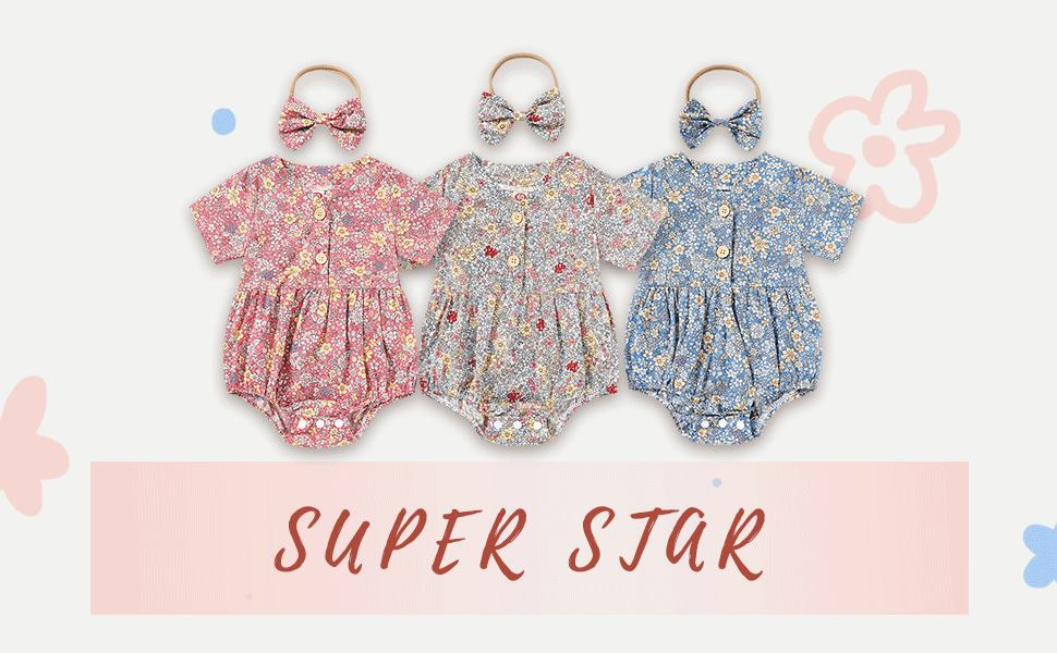 3 colors baby girl outfits summer