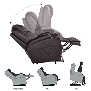 stand up lift recliner or electric lift recliner position