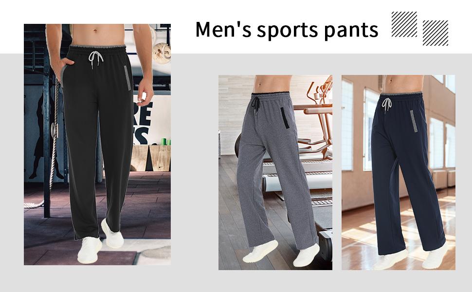 Pantalones Hombre Casuales Deporte Elásticos Suelto Joggers Largos Pants con