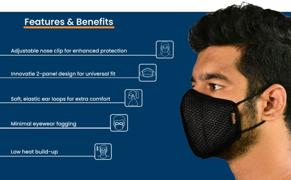 Features and benefits of breathable, reusable and washable premium face mask online india