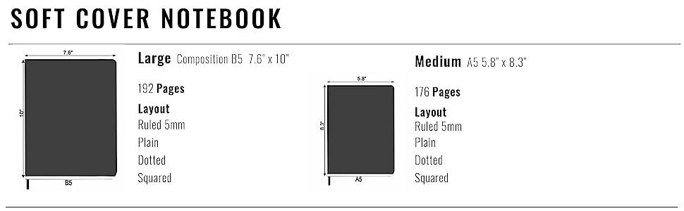 Minimalism Art Soft Cover Notebook