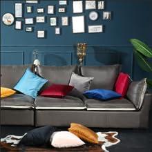 Velvet Soft Soild Decorative Square Throw Pillow Covers Set Cushion Cases