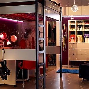 led strip lights room